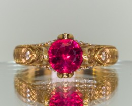 1.05ct Burma Ruby and Diamond Ring