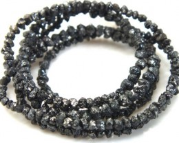 METALLIC SILVER GREY ROUGH DIAMOND STRAND   CTS SD-158