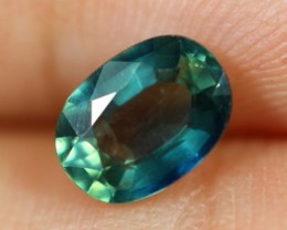 1.02ct Natural Oval Cut Siamese Greenish Blue Heated Sapphire