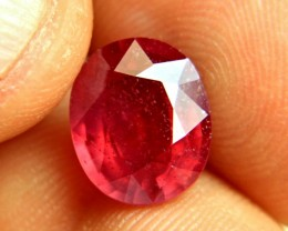 5.91 Carat Fiery Cherry Ruby - Superb