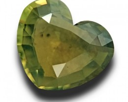 1.64 CTS | Natural Yellowish Green crysoberyl |Loose Gemstone|New| Sri Lank
