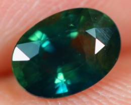 1.01Ct Natural Siamese Greenish Blue Color Heated Sapphire
