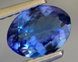 1.08Ct VVS Clarity Violet Blue Oval Cut Natural Tanzanite