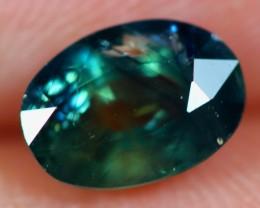 1.19Ct Natural Siamese Dark Green Blue Color Heated Sapphire