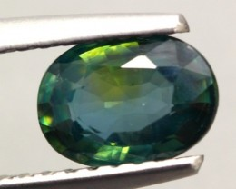 1.07ct Natural Africa Yellowish Green Sapphire Oval Cut HEATED