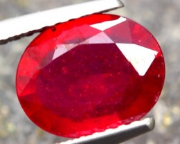 2.40ct Natural MADAGASCAR OVAL RED RUBY GEMSTONE