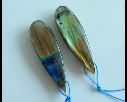 Natural Labradorite Earring Beads,40x12x6mm,47ct(17033101)