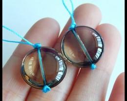 Natural Smoky Quartz Earring Beads,18x8mm,35ct(17040207)
