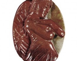 Huge 300.00ct Cameo Carved Angel - Succor Creek Jasper - Stylish piece