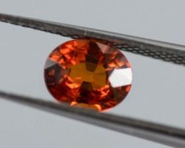 Orange Spessartite 1.01 ct Namibia GPC Lab