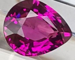 1.49cts Vivid Bright Grape Rhodolite Garnet of Mozambique  VVS1