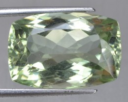 15.02 Cts Natural Green Amethyst/Prasiolite Cushion Cut Brazil Gem