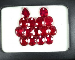 54.60 Cts Natural Ruby Oval Pear Mozambique Parcel