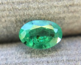 0.45 CRT Natural Zambian Emerald faceted Gemstone