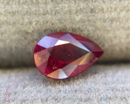 0.70 Crt Unheated Natural Ruby Faceted Gemstone
