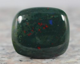 52Ct NATURAL Green with Red spot BloodStone CABOCHON STONE