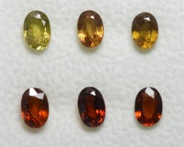 Yellow and Orange Sapphire - 4,20 carats - Wholesale Lot