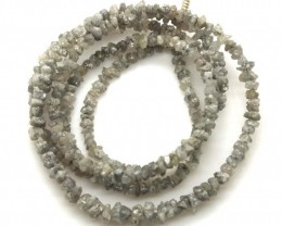 METALLIC SILVER GREY ROUGH DIAMOND STRAND 17  CTS SD-201