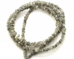 METALLIC SILVER GREY ROUGH DIAMOND STRAND   17CTS SD-203