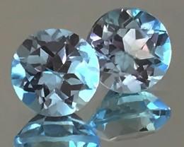 JEWELLERY GRADE PAIR OF BLUE TOPAZ GEMS - NO RESERVE