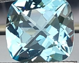 8.58cts, Ice Blue Topaz,  VVS1 Eye Clean, Calibrated