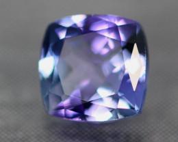 1.13Ct VVS Clarity Violet Blue Princess Cut Natural Tanzanite