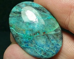28mm azurite Shattuckite chrysocolla cuprite cabochon AAA 28 by 20 by 4mm 2