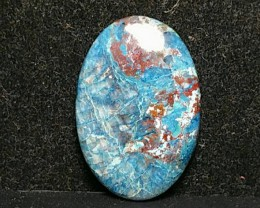 31mm azurite Shattuckite chrysocolla cuprite cabochon AAA 31 by 20 by 4.5mm