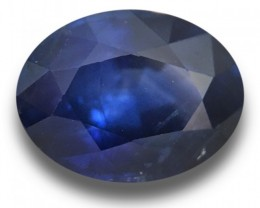 1.36 CTS Natural Royal Blue sapphire sapphire |New Certified| Sri Lanka