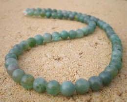 NATURAL JADE BEAD STRAND 6.5mm 16 INCH  117 CTW