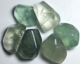 166 CTS (6PC) CHINESE JADE STONE DRILLED  NP-561