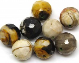 PETRIFIED WOOD BEADS, (8 PC) 59.7 CTS  NP-1191