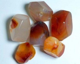CARNELIAN BEAD DRILLED (6PC) 124CTS NP-564