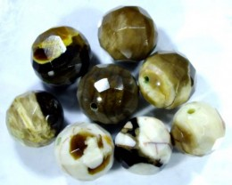 PETRIFIED WOOD BEADS 8 PC 63 CTS NP-1150