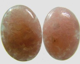 AUSTRALIAN PINK/ORANGE KUNZITE  PAIR  30.5 CTS [ S3370]