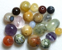 ASSORTED NATURAL STONE (PARCEL) DRILLED 65CTS NP-580