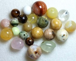 ASSORTED NATURAL STONE (PARCEL) DRILLED 64CTS NP-576