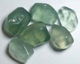 CHINESE JADE STONE DRILLED (6PC) 187 CTS NP-557