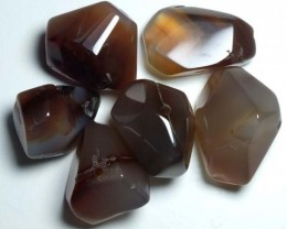 CARNELIAN BEAD DRILLED (6PC) 140CTS NP-573