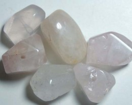 ROSE QUARTZ (6PC) DRILLED 119CTS NP-554