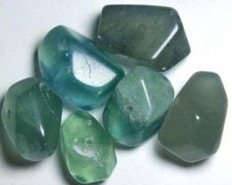 CHINESE JADE STONE DRILLED (6PC) 201CTS NP-560