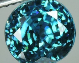 4.35 CTS DAZZLING NATURAL RARE TOP LUSTER INTENSE BLUE ZIRCON