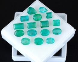 Natural Emerald - 27,30 ct - Wholesale Lot