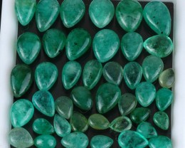 Natural Emerald - 76,80 ct - Wholesale Lot