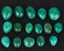 Natural Emerald - 39,50 ct - Wholesale Lot