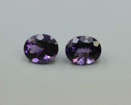 AMETHYST OVAL SHAPED PAIR