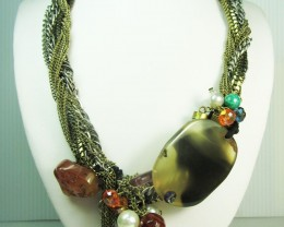 FASHION NATURAL AGATE STYLE NECKLACE QT226