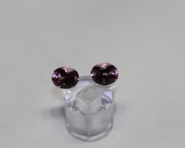AMAZING EYE-CLEAN UNTREATED PINK SPINEL PAIR 1.25 CARATS