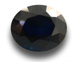 3.54 CTS Natural Dark Royal Blue sapphire |Loose Gemstone|Certified| Sri La