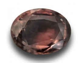 3.13 CTS Natural brownish to purple sapphire |New Certified| Madagascar